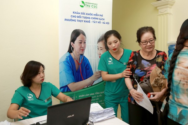 "This regular meaningful activity is among those aiming at ""For Community Health"" program by Thu Cuc hospital"
