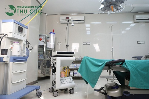 Operating room with modern equipment